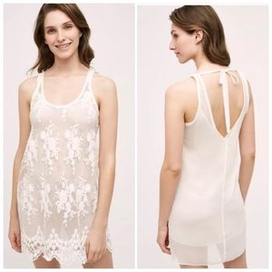 Anthro Eloise Embroidered Lace Chemise Size SP